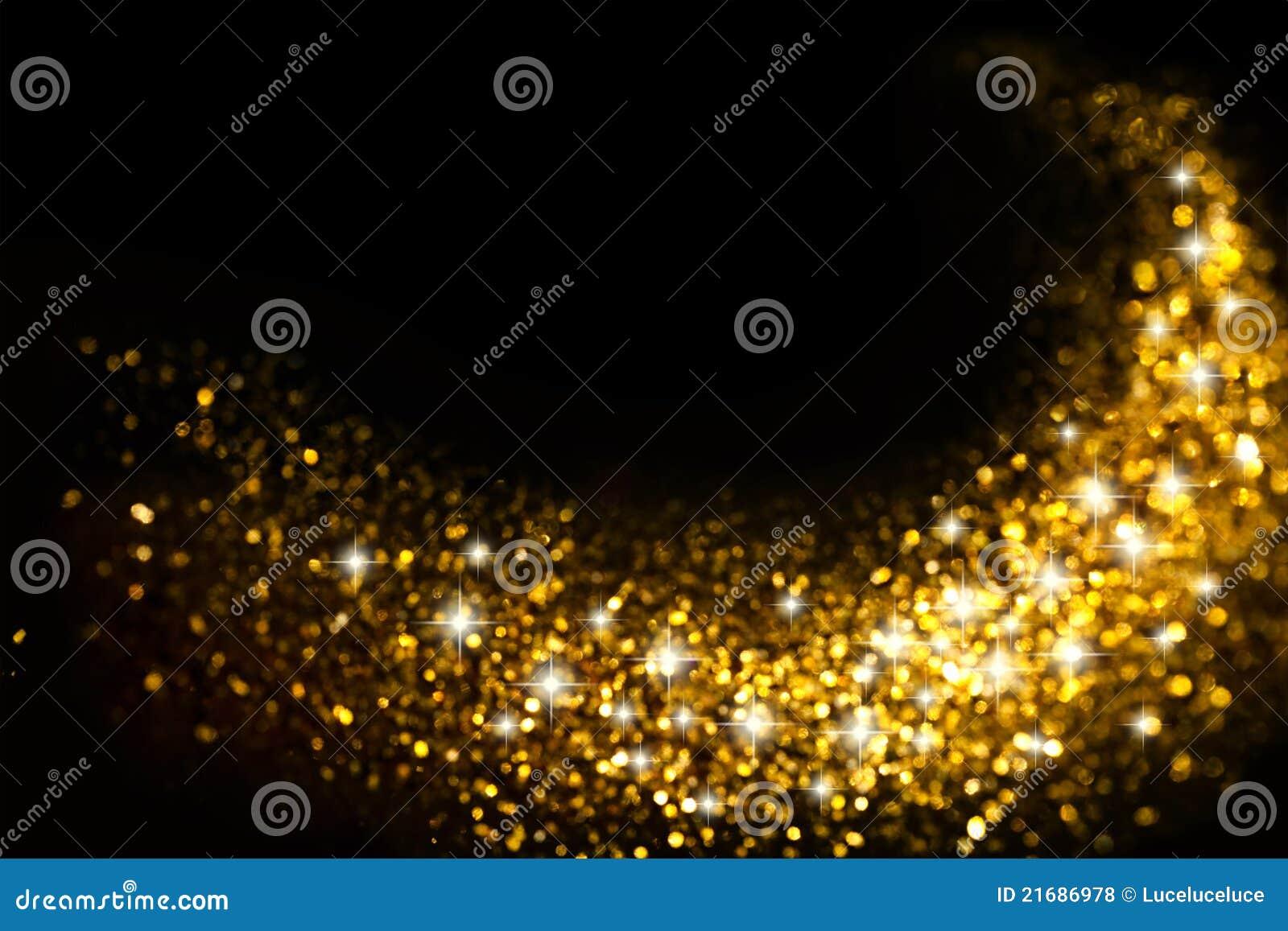 Gouden schitter Sleep met de Achtergrond van Sterren