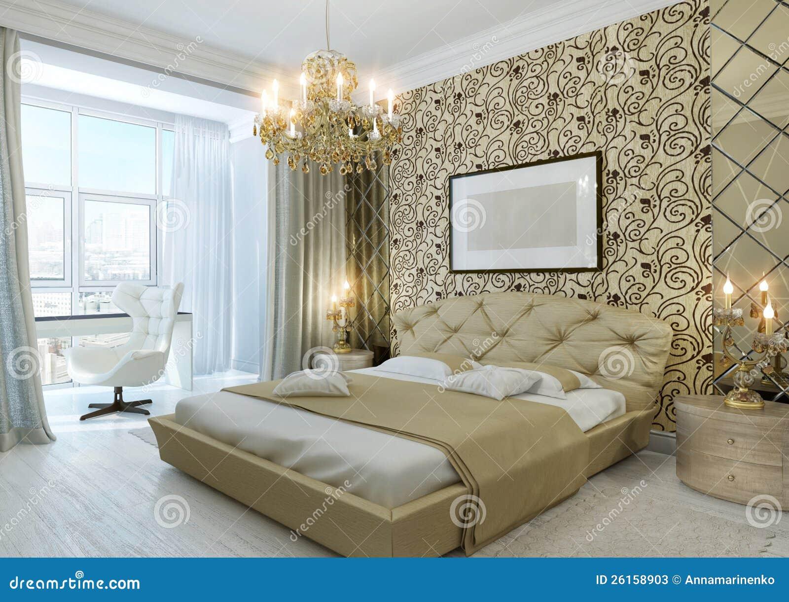 Gouden Slaapkamer Stock Foto's - Afbeelding: 26158903