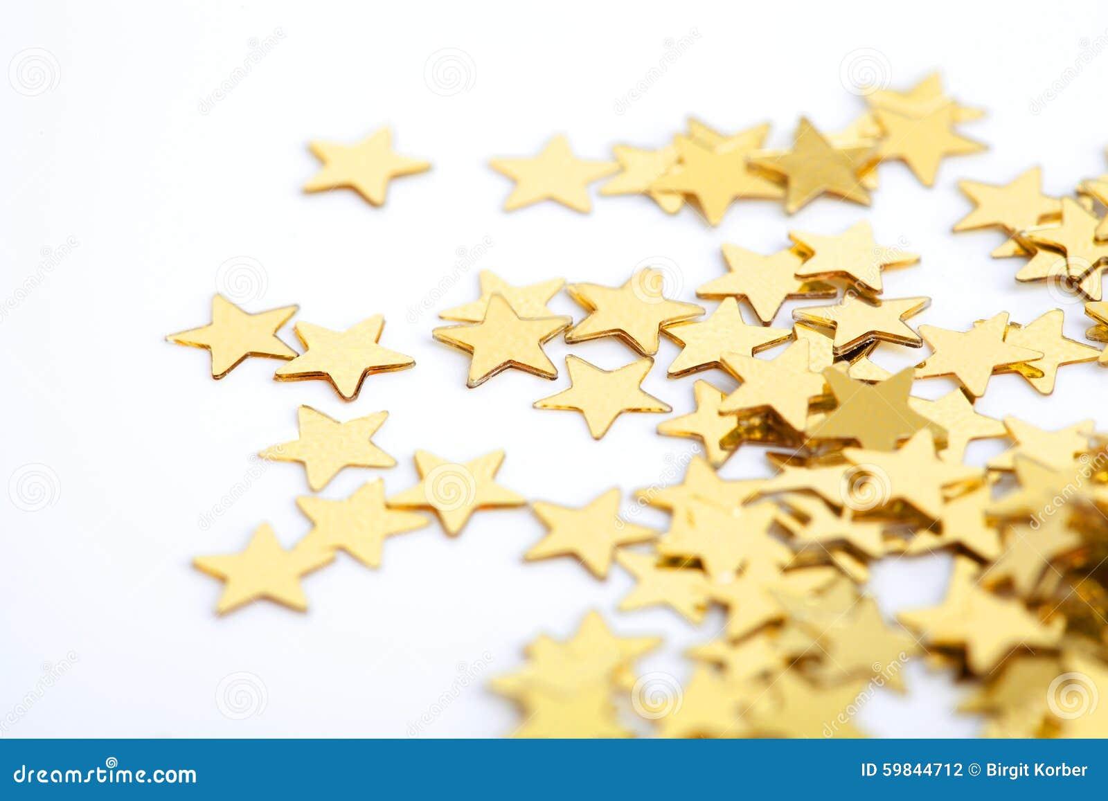 Gouden Sterren Als Achtergrond Voor Kerstmis Stock Foto Afbeelding