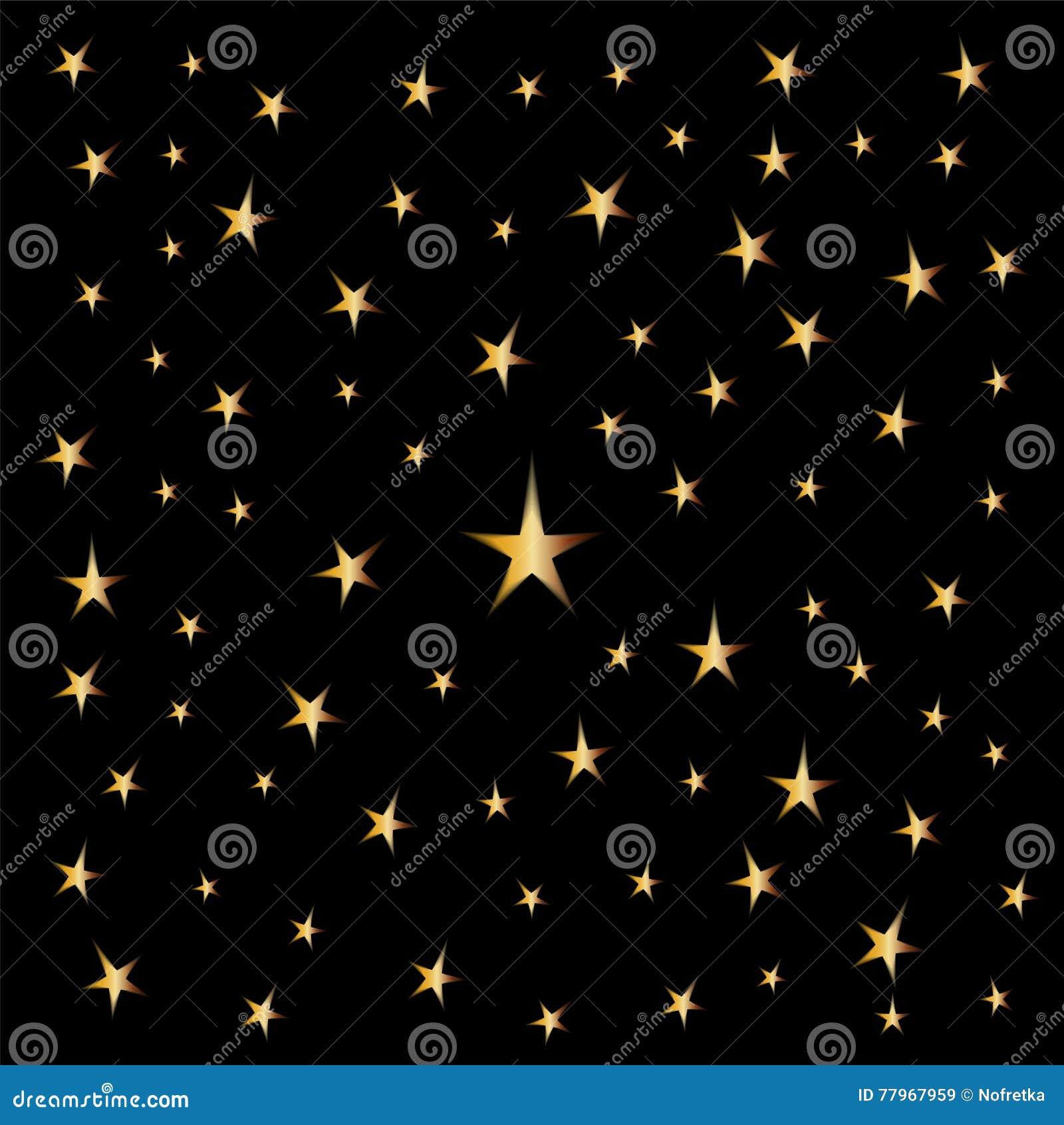 Schoudertas Met Sterren : Gouden sterren op zwarte achtergrond geschikt voor textiel