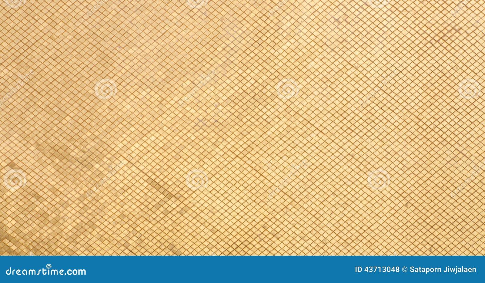 Gouden Mozaiek Tegels : Gouden tegels stock foto afbeelding bestaande uit tegels