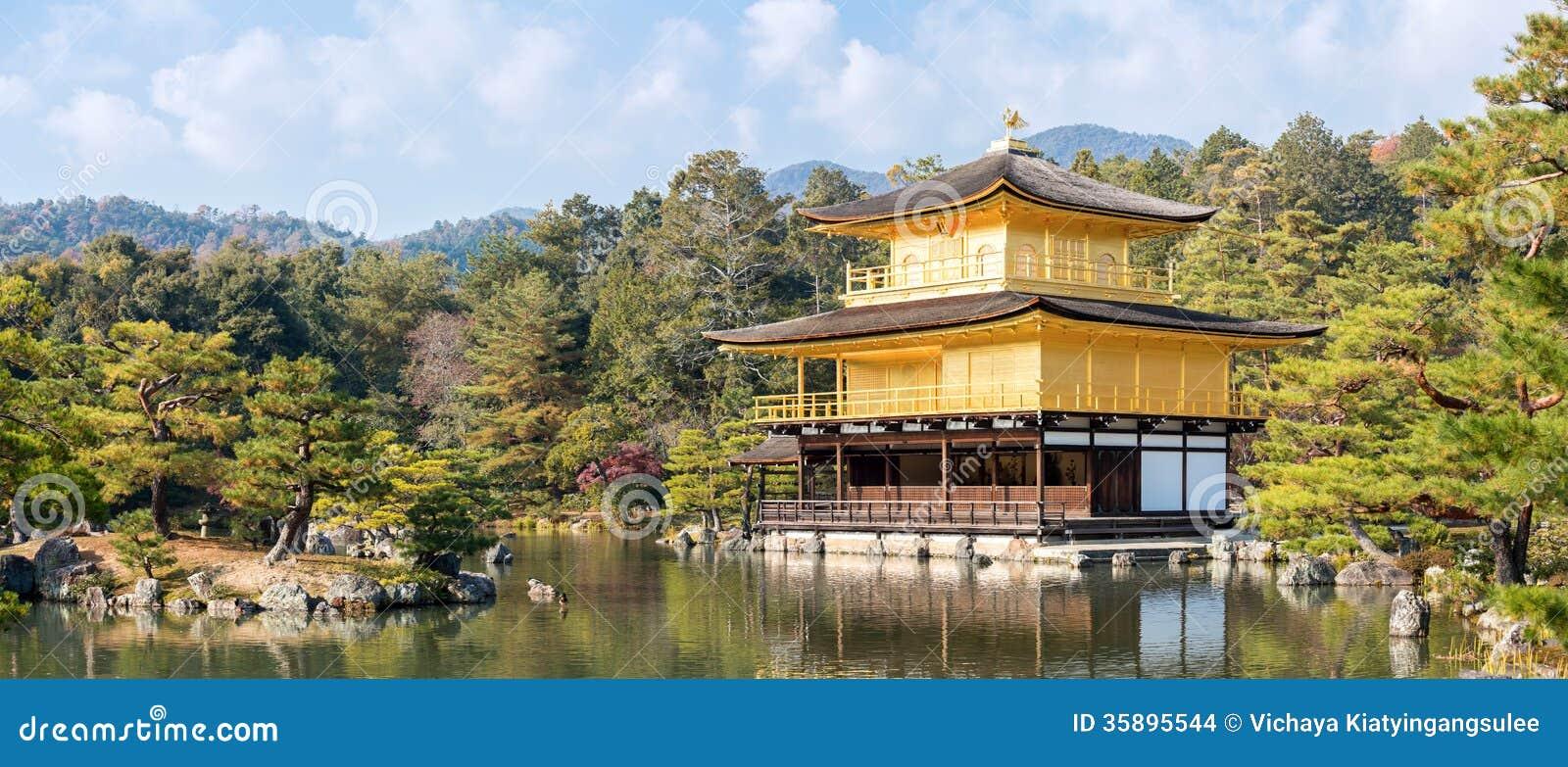 Gouden tempelpanorama