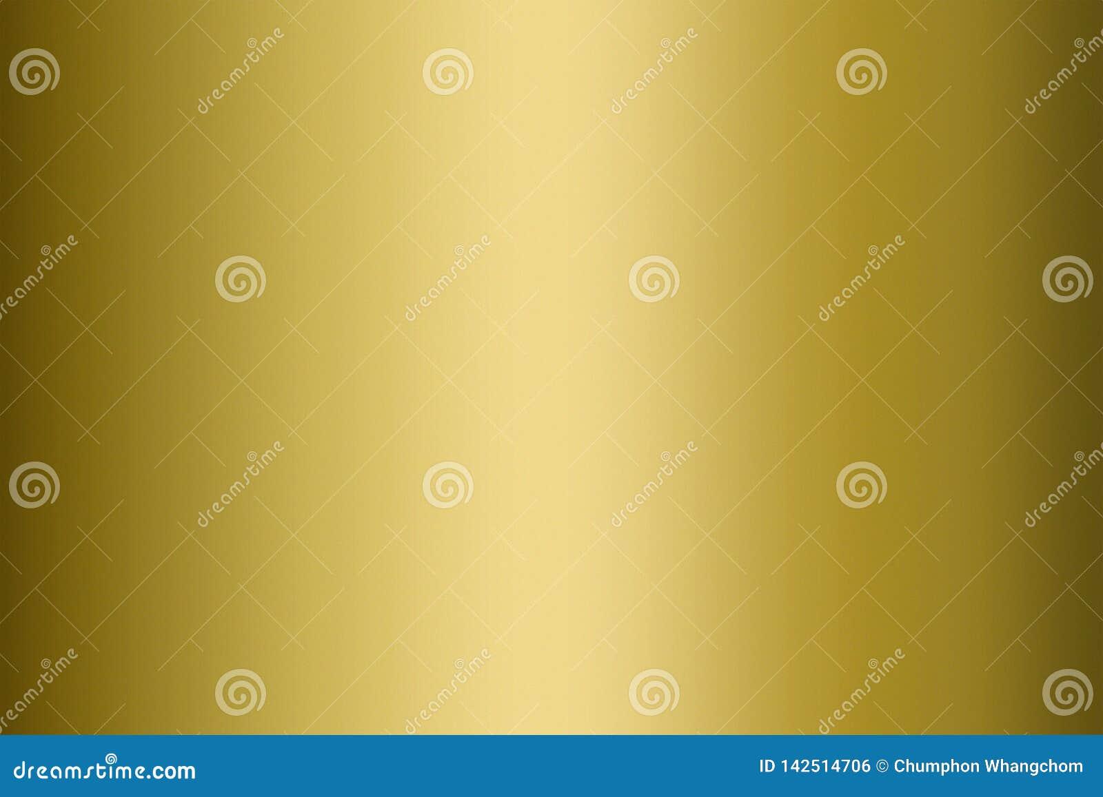Gouden Textuurachtergrond Gouden oppervlakte van metaalblad