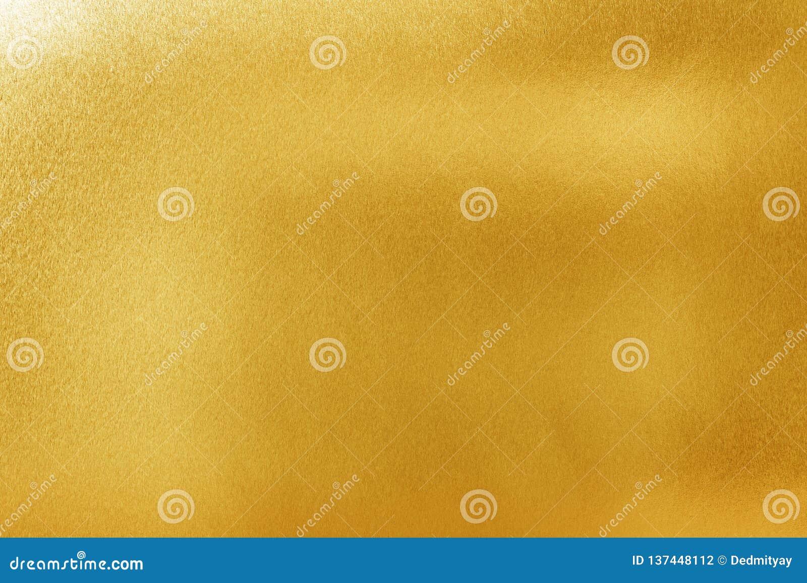 Gouden textuurachtergrond voor ontwerp Glanzend geel metaal of folieoppervlaktemateriaal