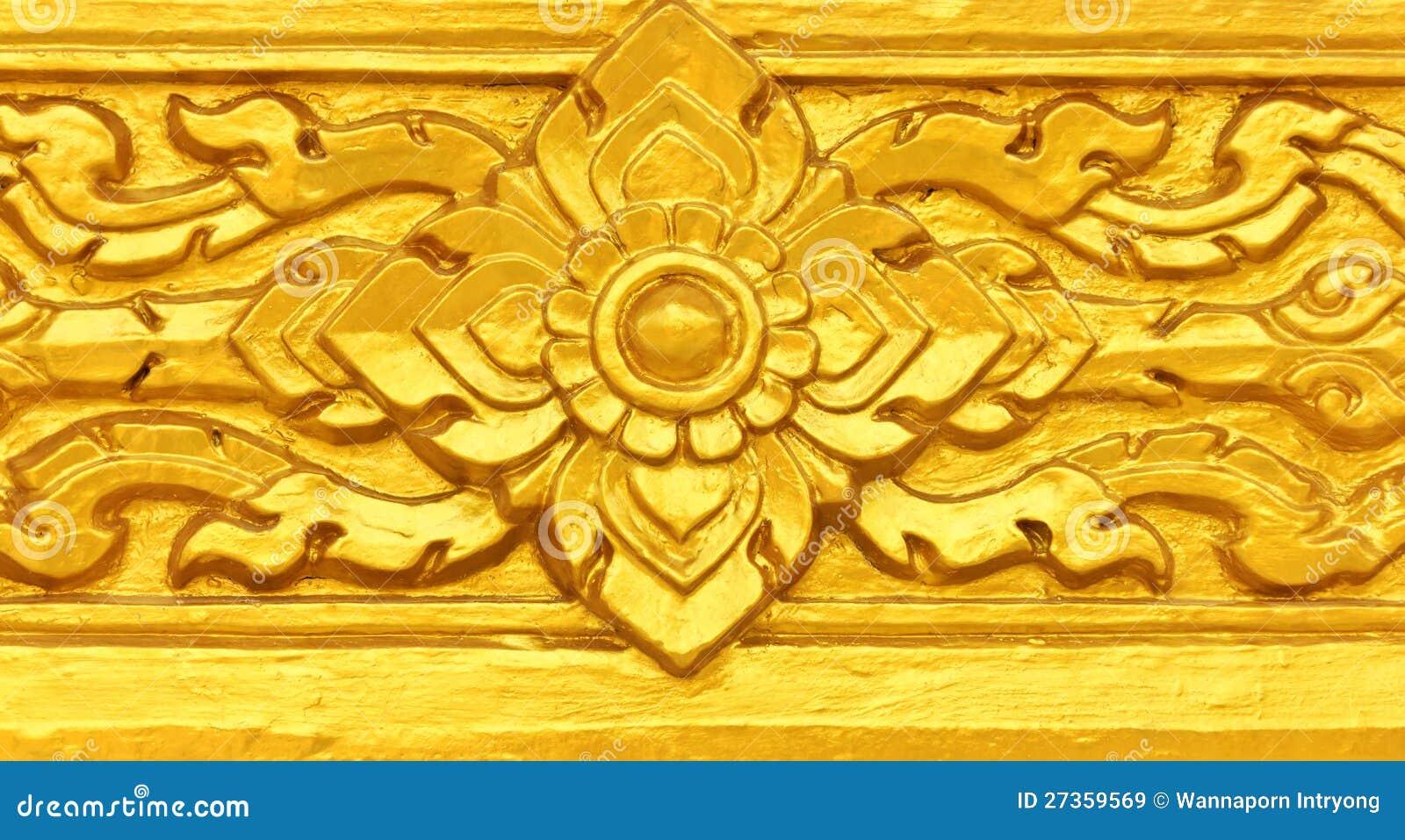 Gouden Thais patroon
