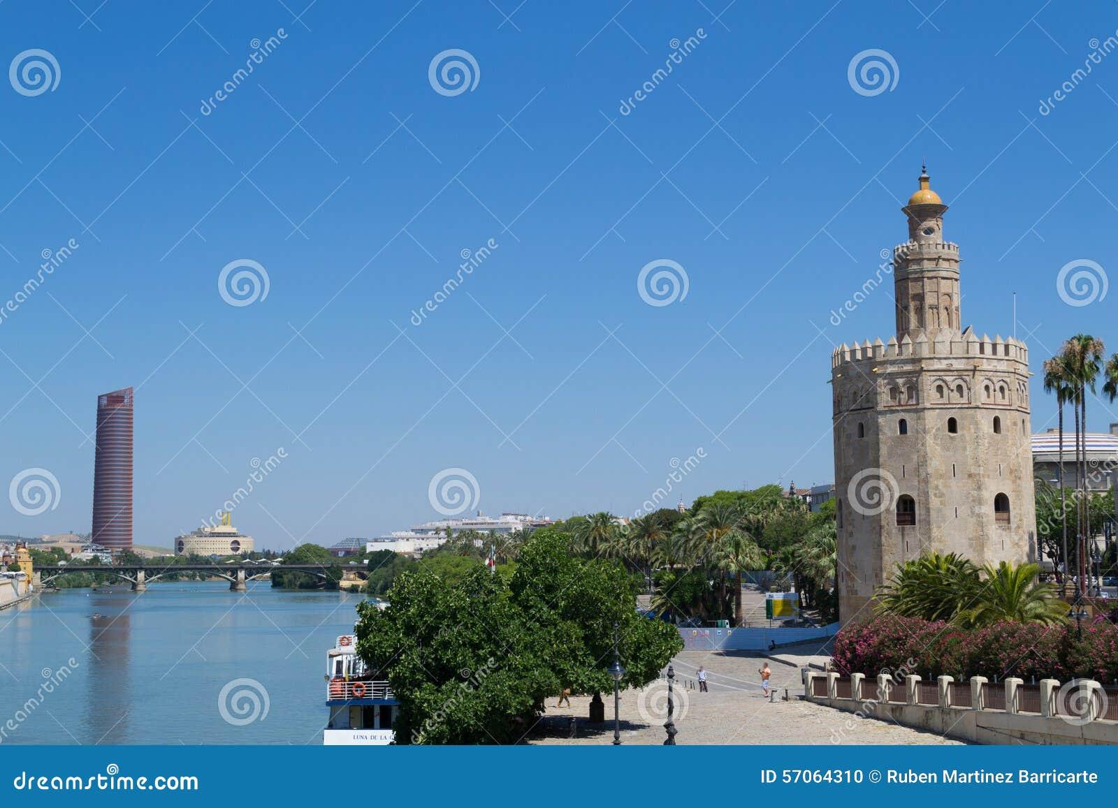 Gouden toren door Guadalquivir