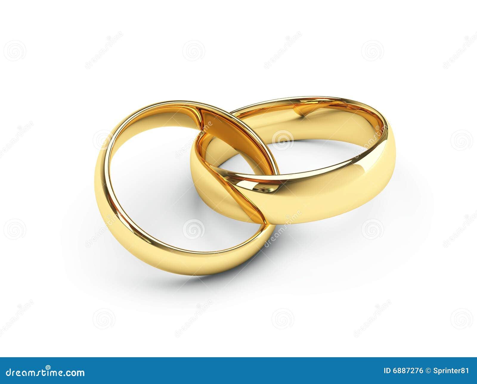 Gouden Trouwringen Royalty vrije Stock Afbeelding   Afbeelding  6887276
