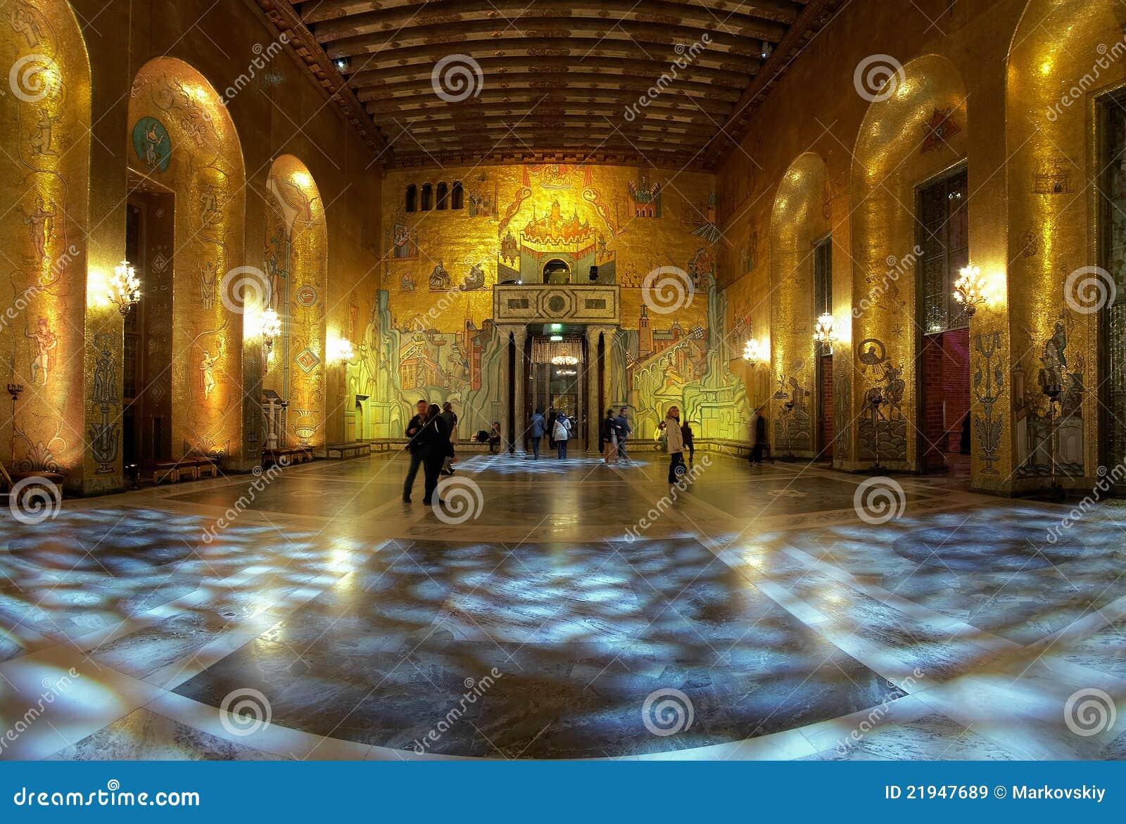 Gouden zaal van het stadhuis van stockholm redactionele stock afbeelding afbeelding 21947689 - Versiering van de zaal van het tienermeisje van ...
