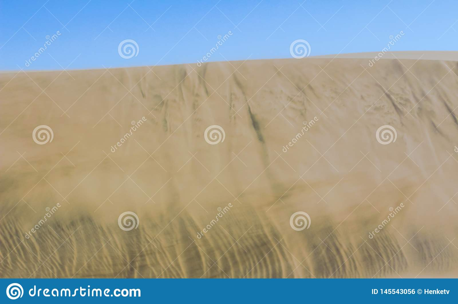 Gouden zand van Afrikaanse woestijn