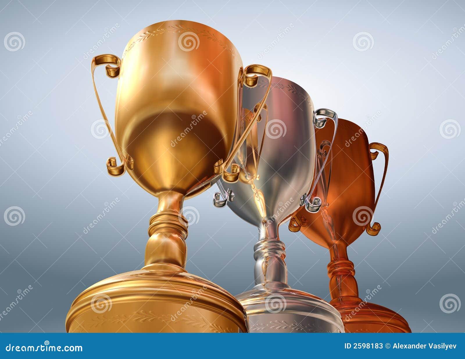 Gouden zilveren brons