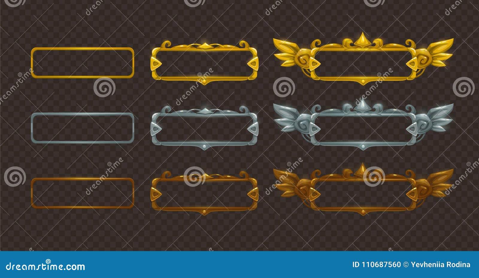 Gouden, zilveren en geplaatste bronskaders