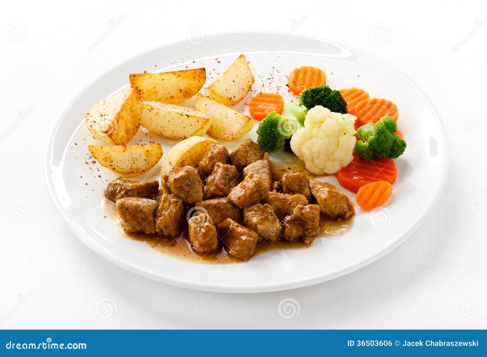 Goulache et légumes