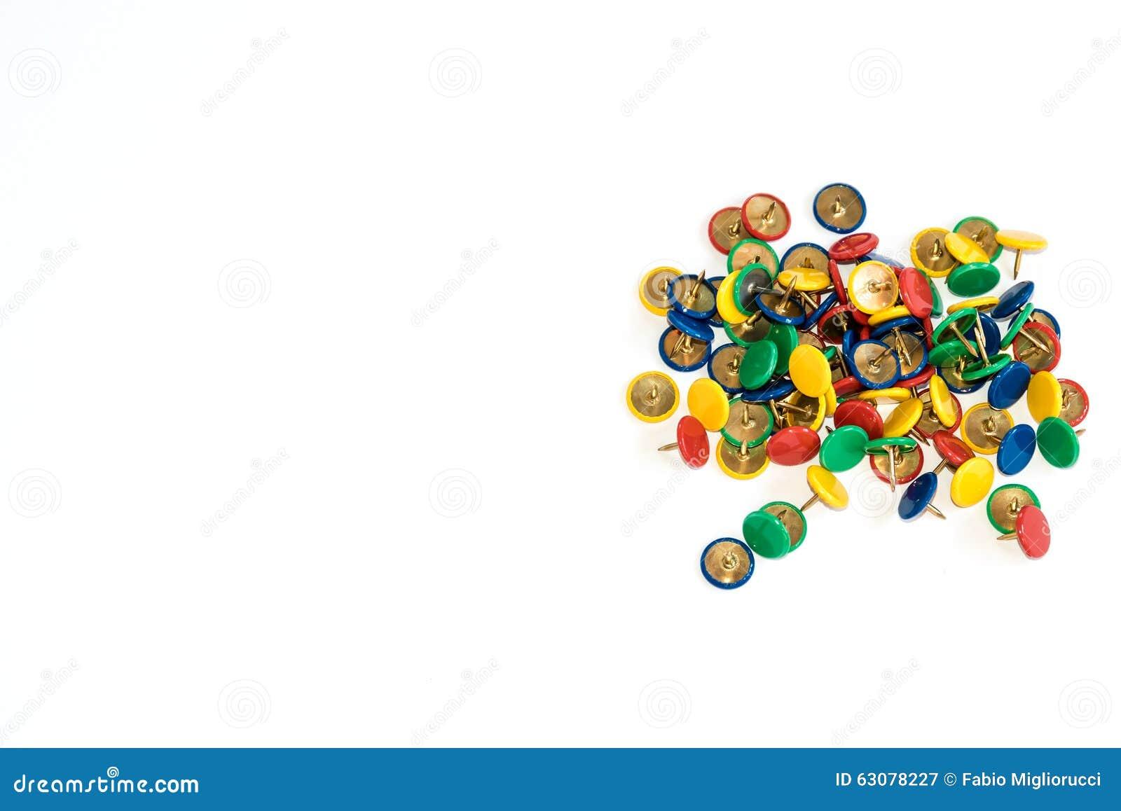 Download Goupilles Colorées De Poussée Image stock - Image du rouge, profession: 63078227
