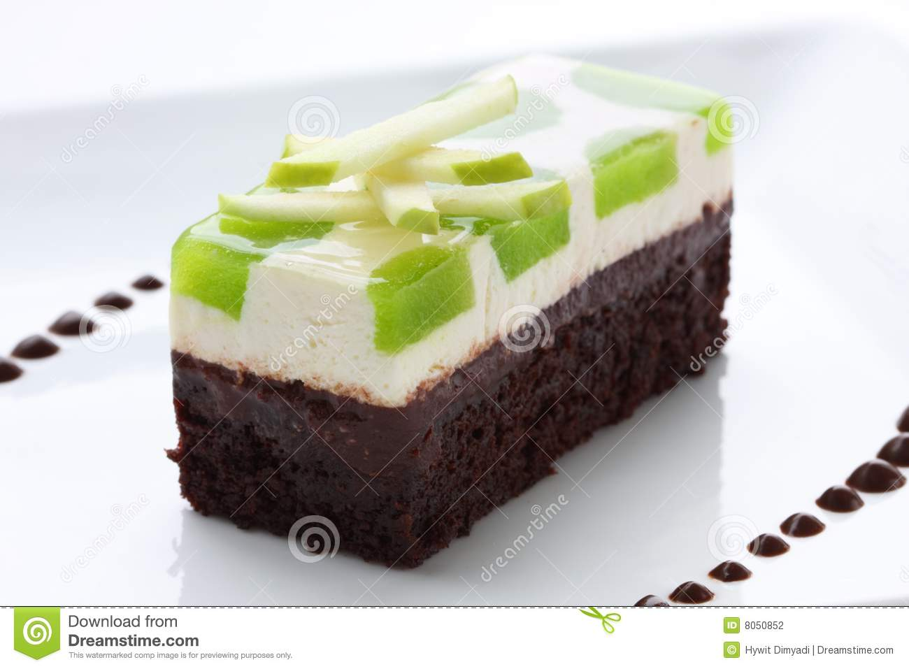 Gourmet Apple Chocolate Cake Stock Photography - Image: 8050852