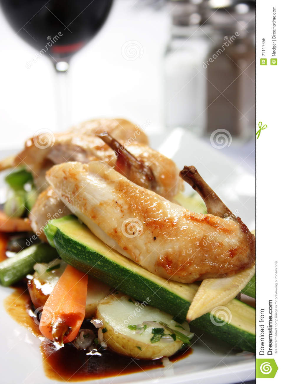 Gourmet Chicken Dish Stock Image. Image Of Meal, Cooked