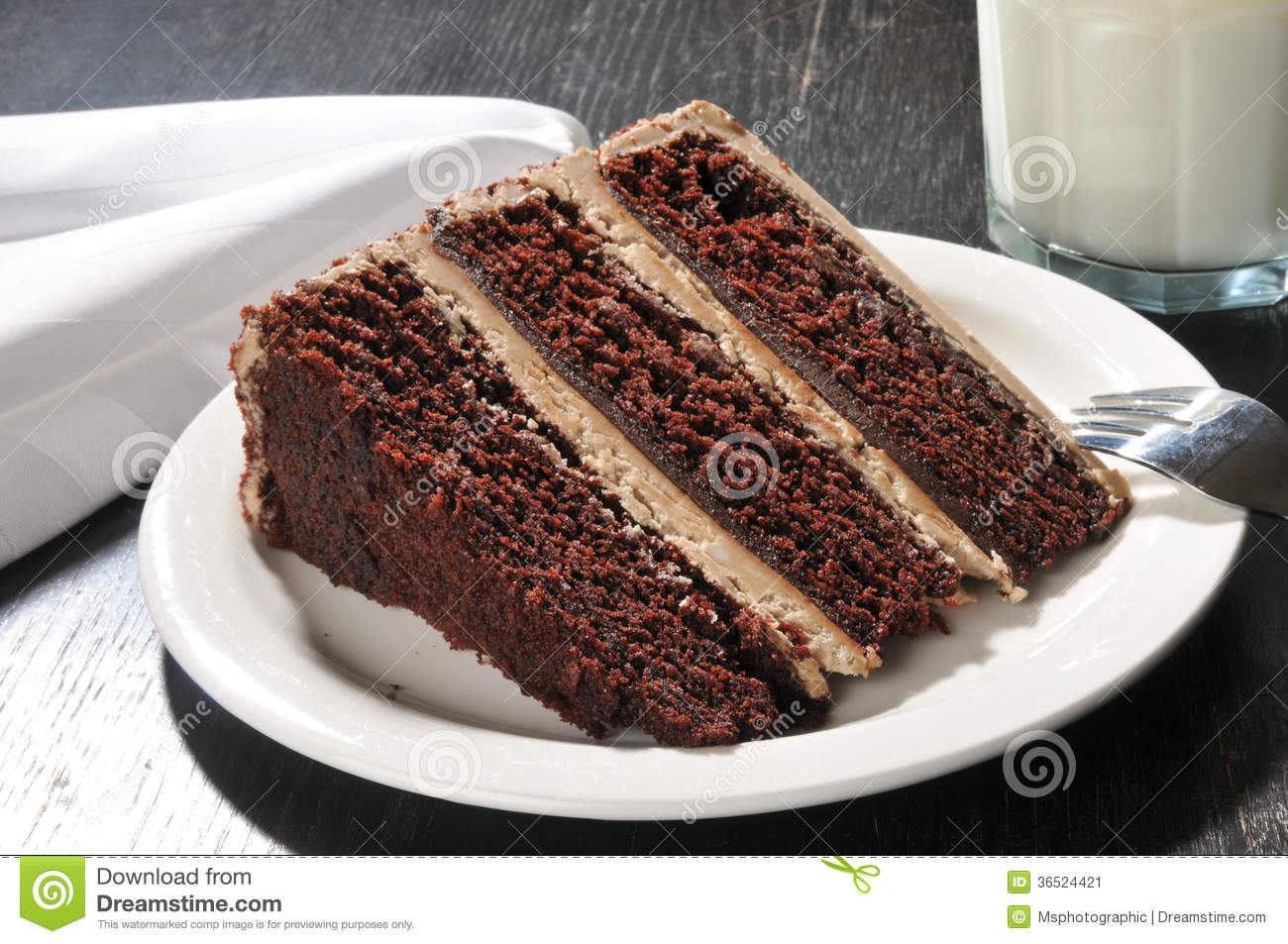 Fancy Chocolate Cake Images : Gourmet Chocolate Cake With Milk Stock Image - Image: 36524421