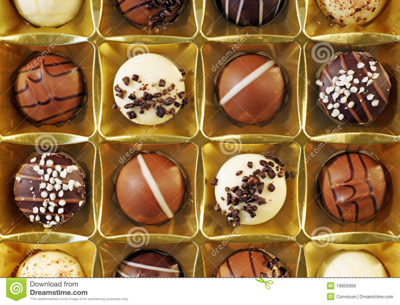 Gourmet Chocolate Candy Royalty Free Stock Image - Image: 19859366