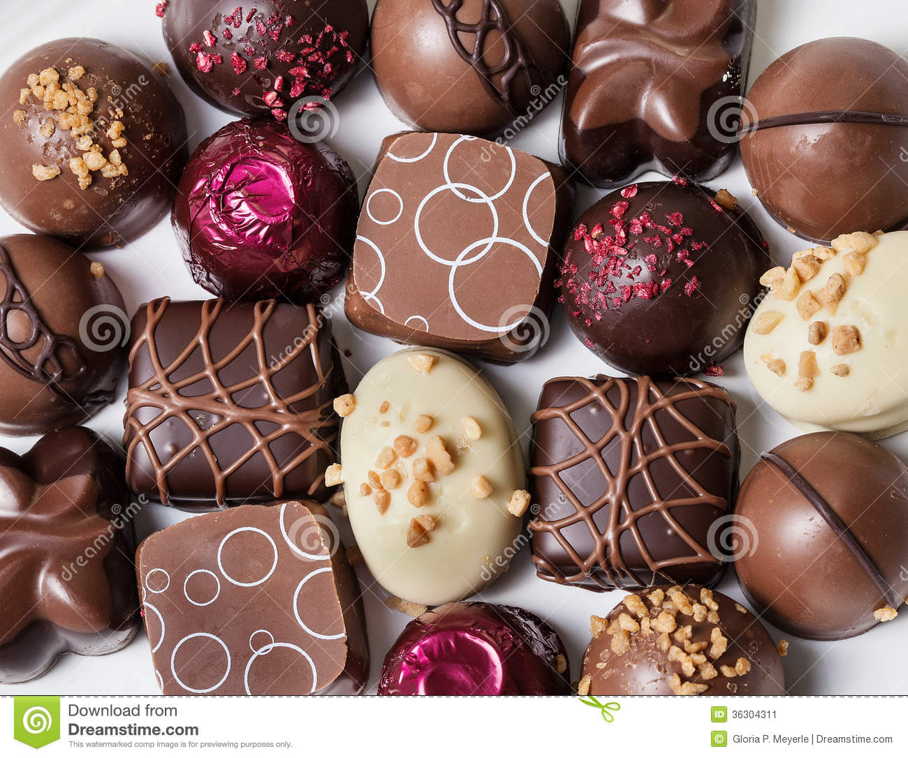 Gourmet Chocolates Stock Image Image Of Cacao Decorated