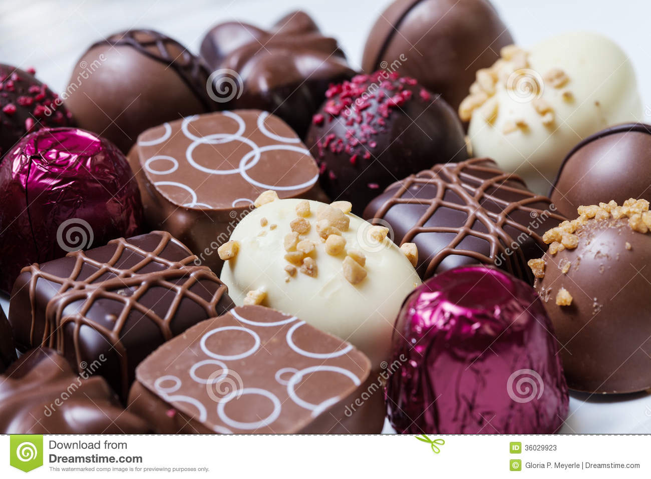 Gourmet Chocolates Stock Image Image Of Filled Holiday