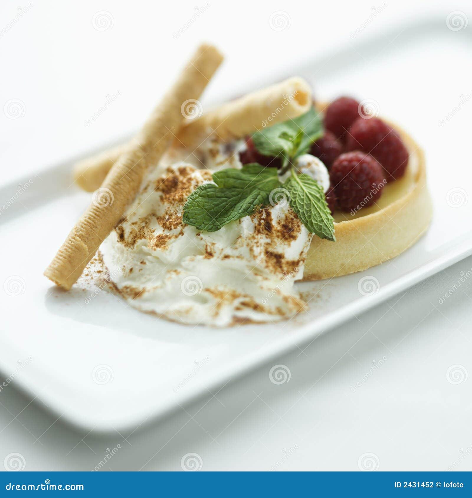 Gourmet dessert.