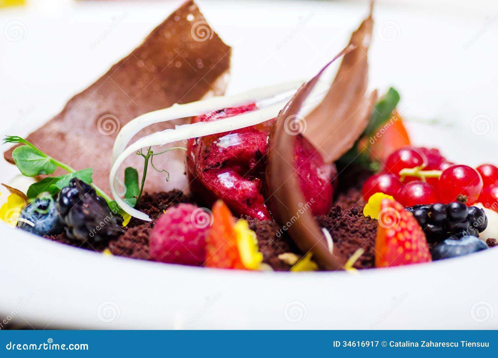 gourmet dessert stock image image of plate food dinner. Black Bedroom Furniture Sets. Home Design Ideas