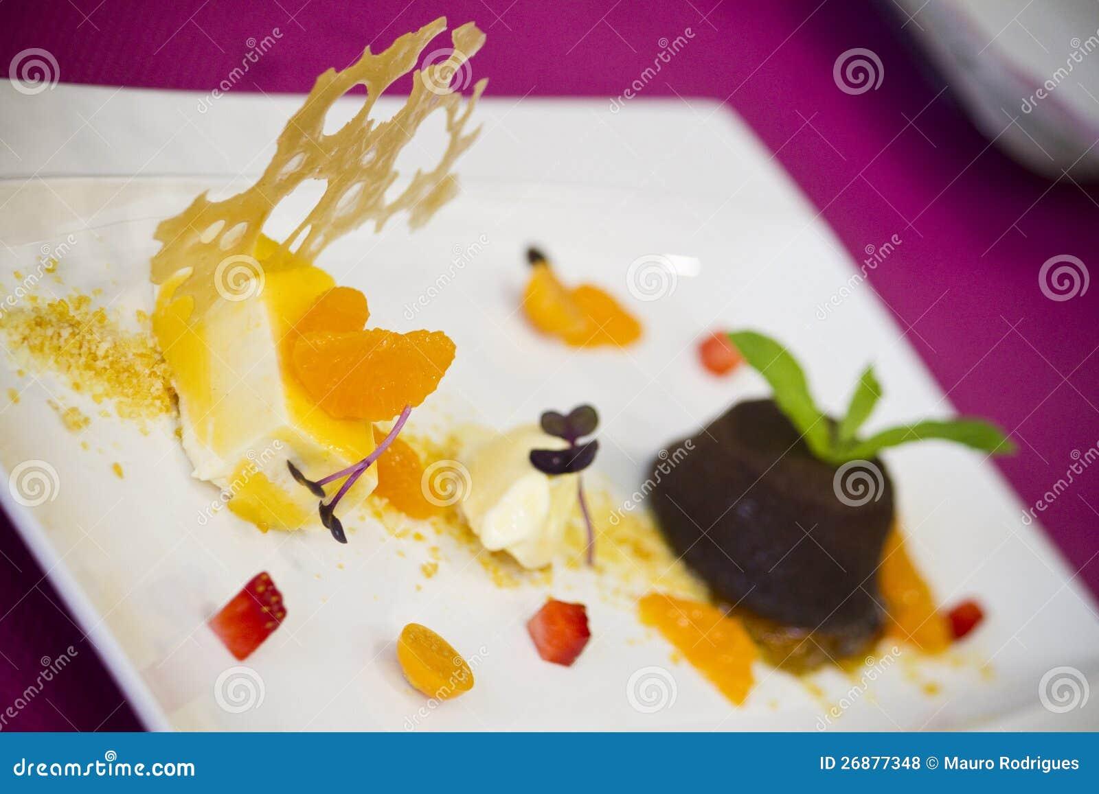 Gourmet dish food