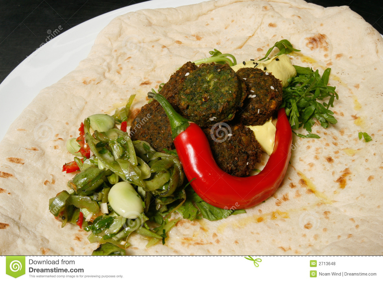 Gourmet falafel - famous middle eastern dish, with a stylish twist.