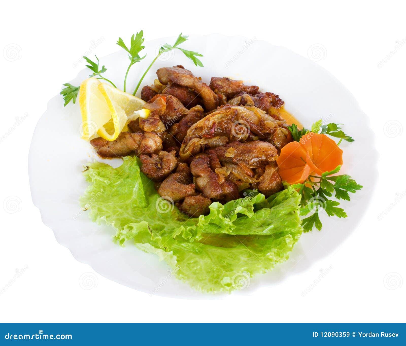 Gourmet food with salad