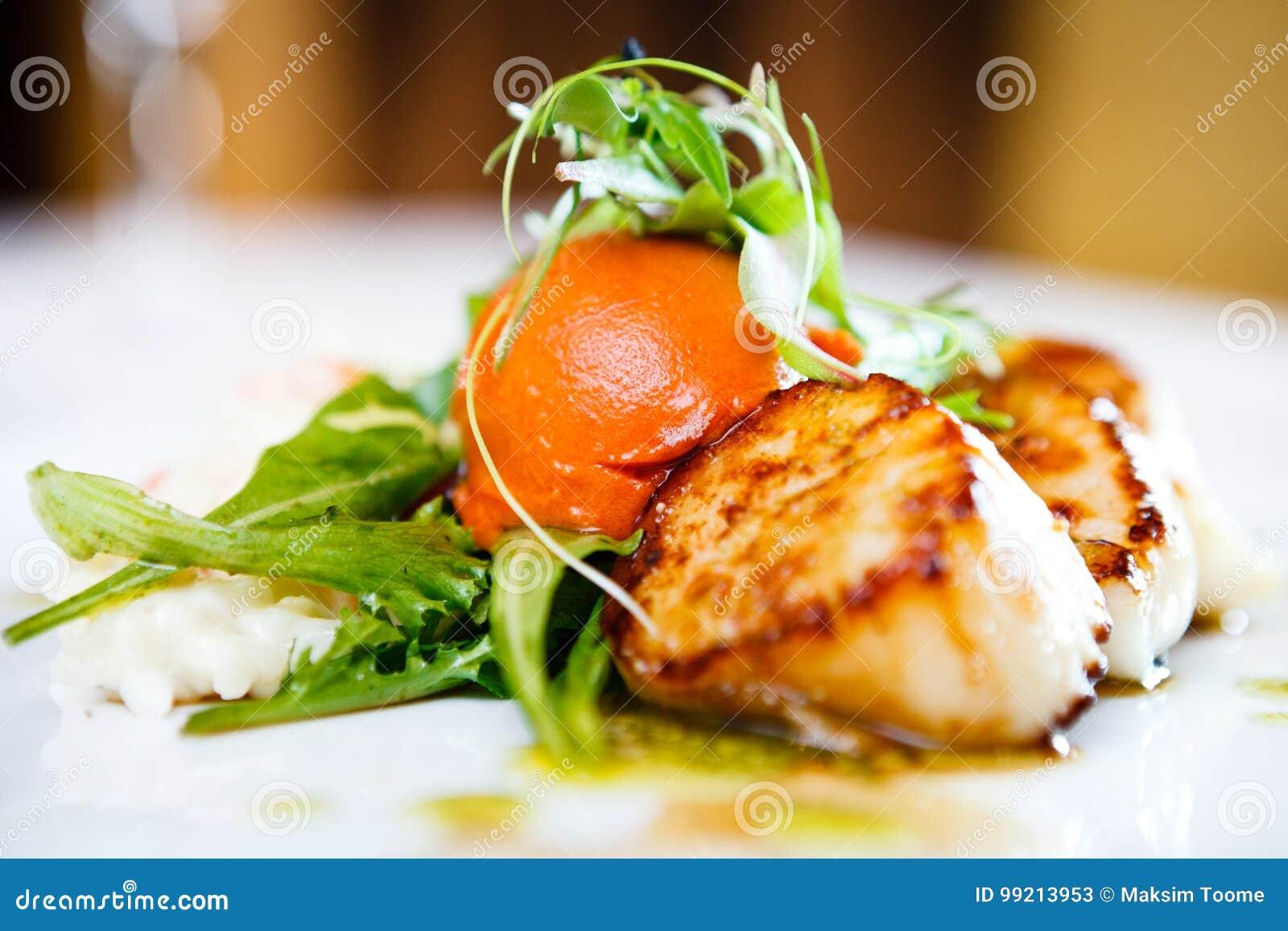 Gourmet food scallops