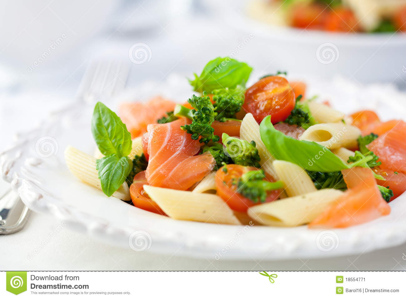 Smoked Salmon Pasta Salad Pasta salad with salmon