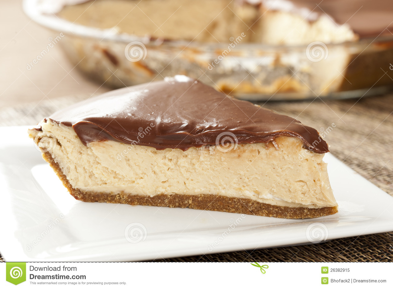 Download Gourmet Peanut Butter Pie stock image. Image of layered - 26382915