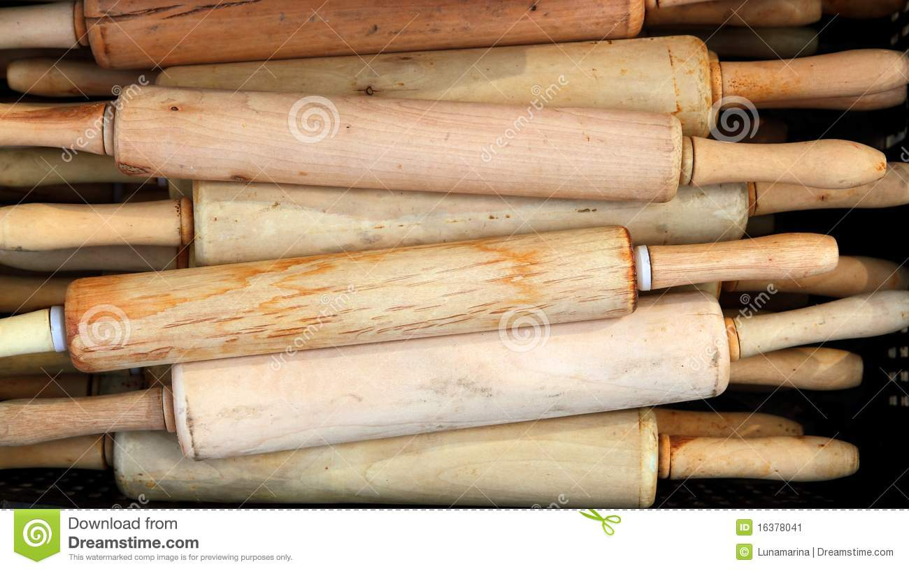 Gourmet rolling pin kitchen bakery dough tool stock image for Kitchen pin