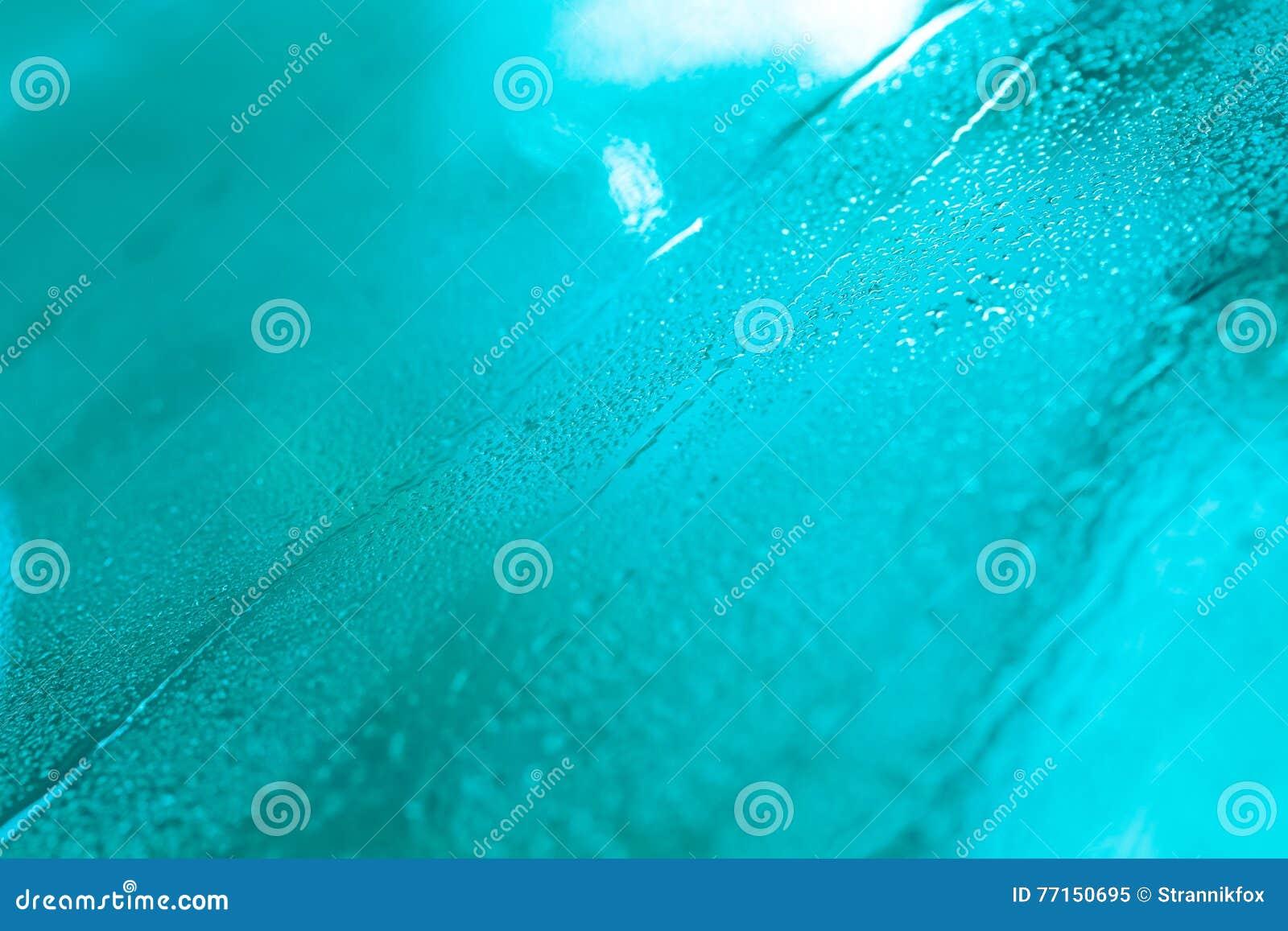 Gouttes de l eau sur un fond de couleur Profondeur de zone Se