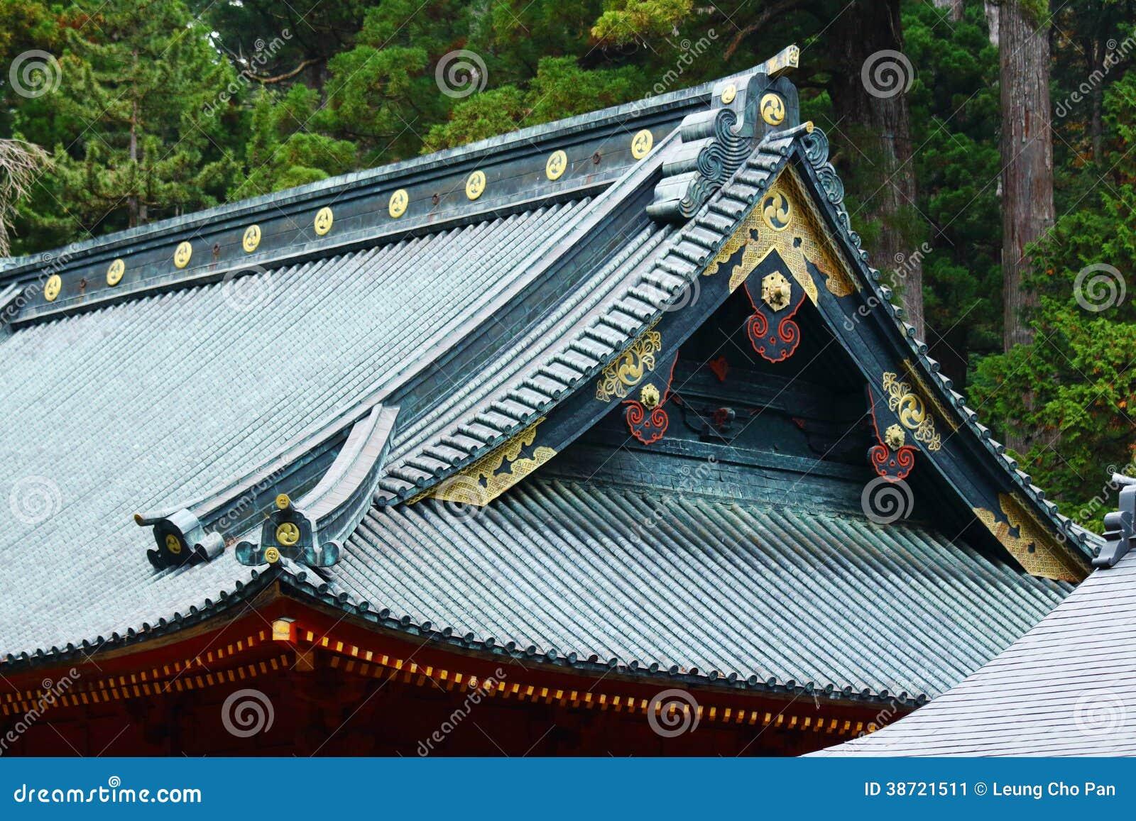 goutti re de toit de temple de style japonais image stock. Black Bedroom Furniture Sets. Home Design Ideas