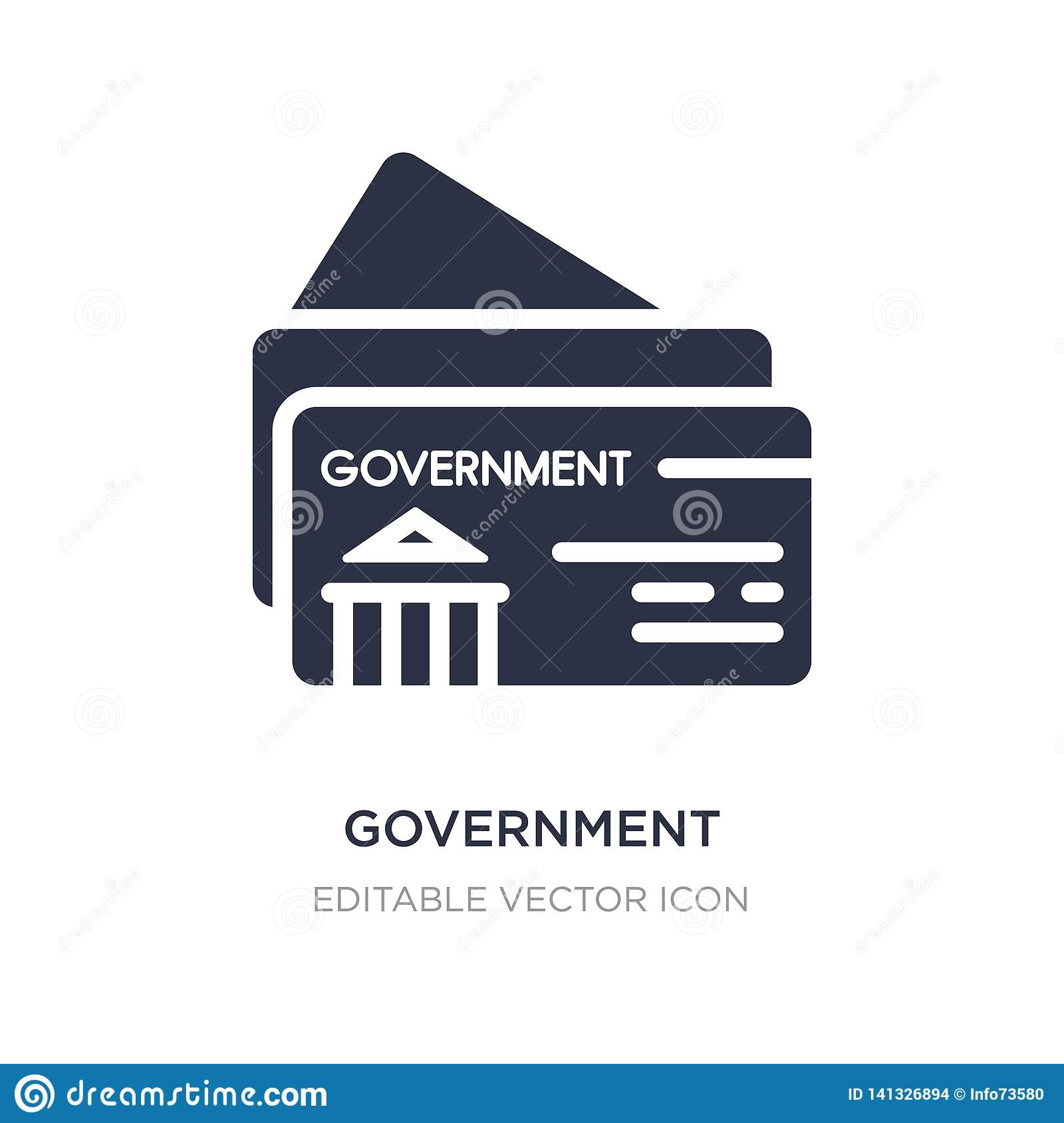 government business card icon on white background. Simple element illustration from Other concept