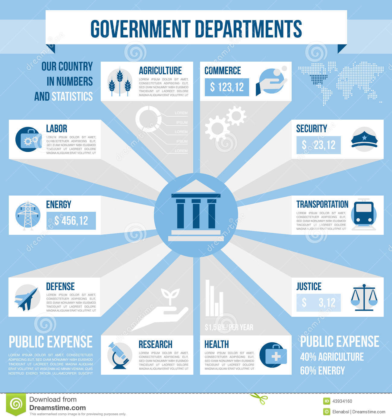 Government Departments Stock Vector Image 43934160