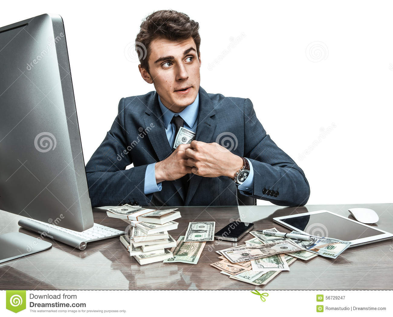 Government Official Stealing Money Stock Photo - Image ...