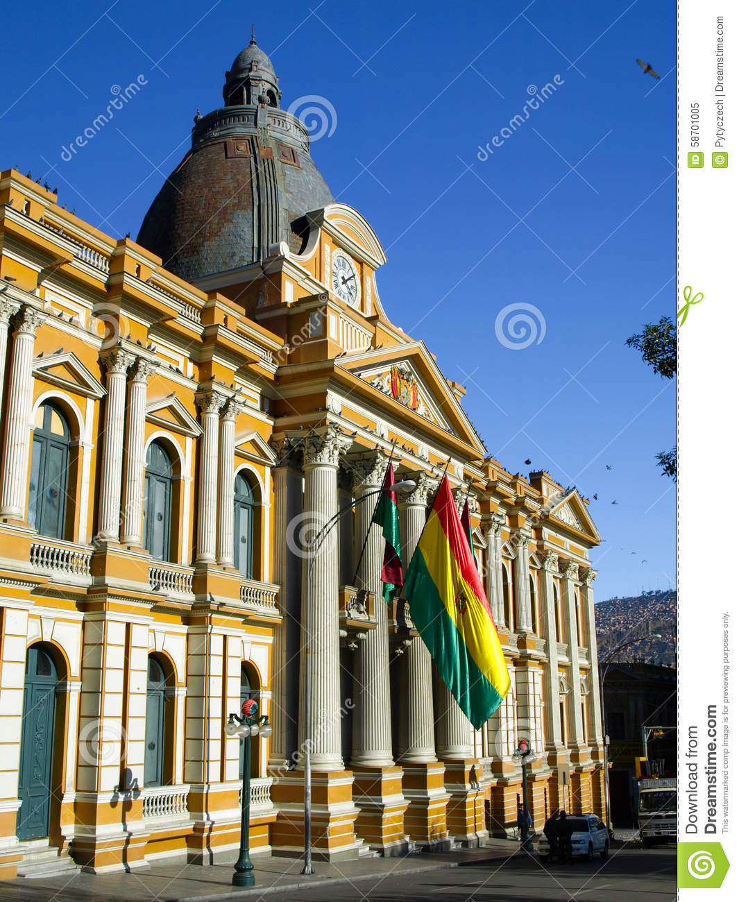 Bolivian Palace Of Government In La Paz, Bolivia Stock ...