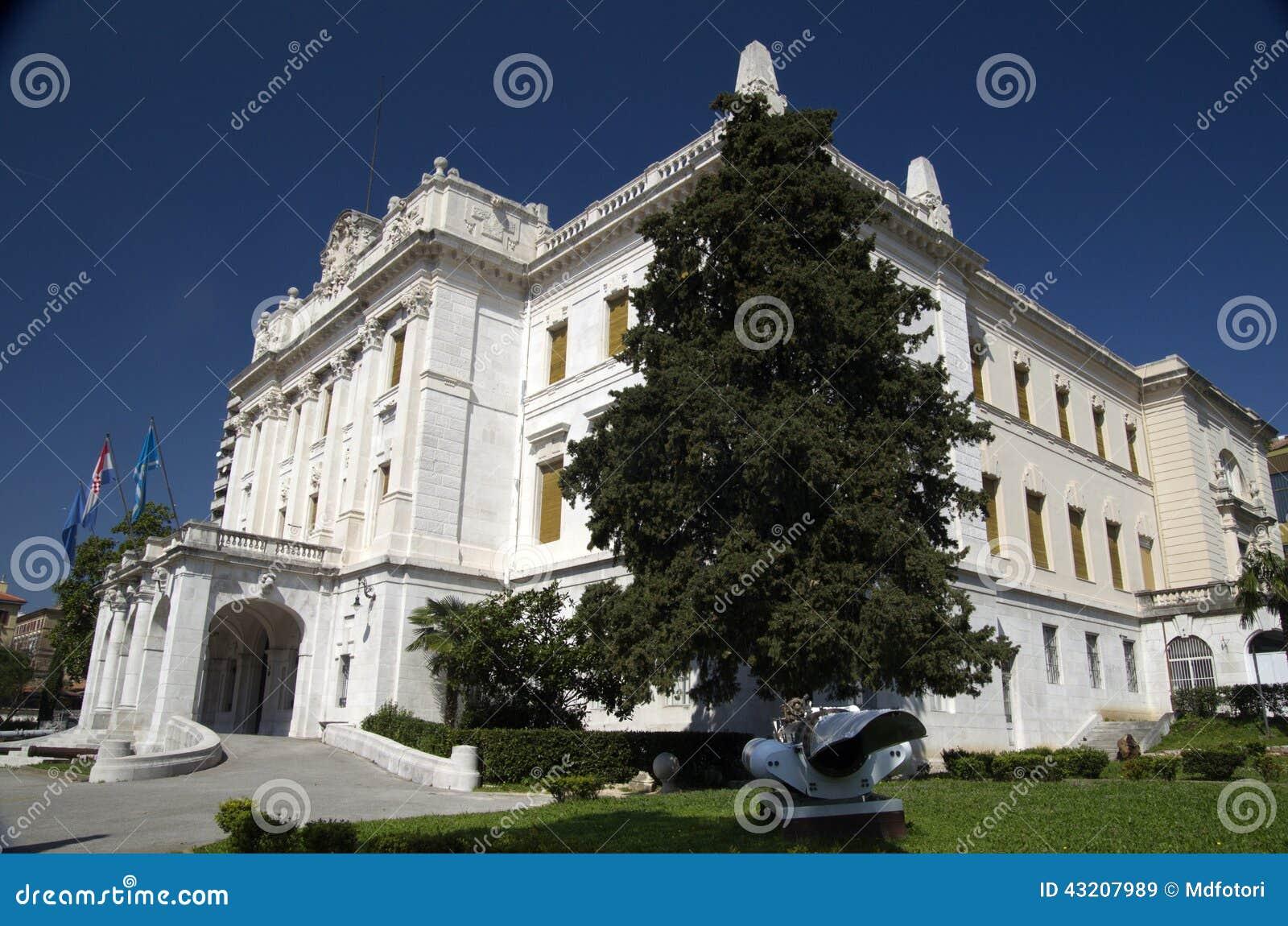 Download Governor's Slott I Rijeka, Kroatien Fotografering för Bildbyråer - Bild av croatia, historiskt: 43207989