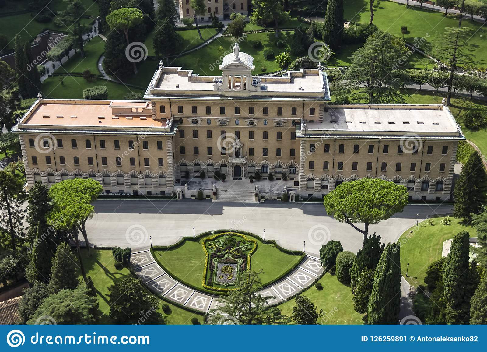 The Governor`s Palace In Vatican Gardens. The Seat Of The