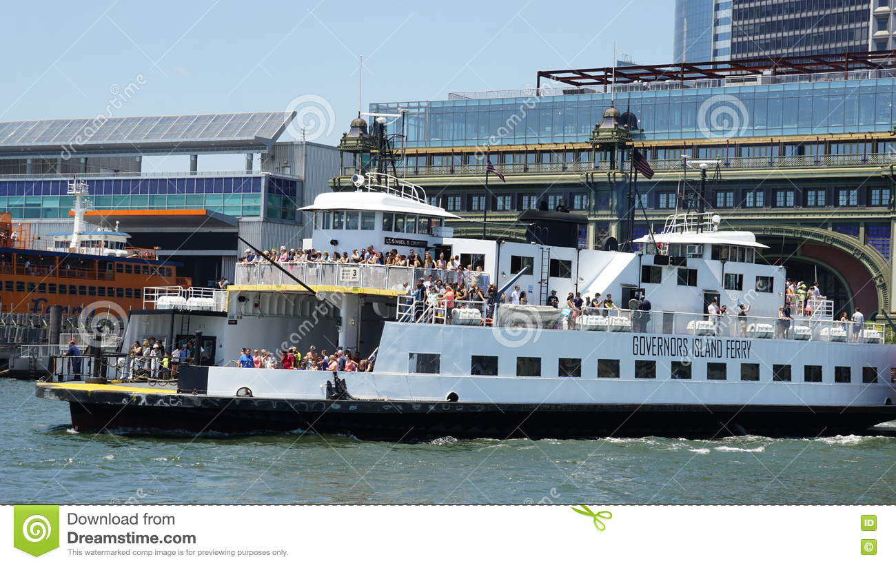 governors island ferry in new york editorial stock image - image of