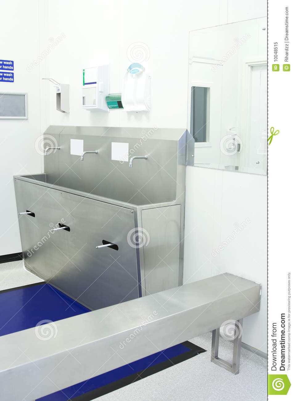 Gowning Area Of Clean Room Royalty Free Stock Photo
