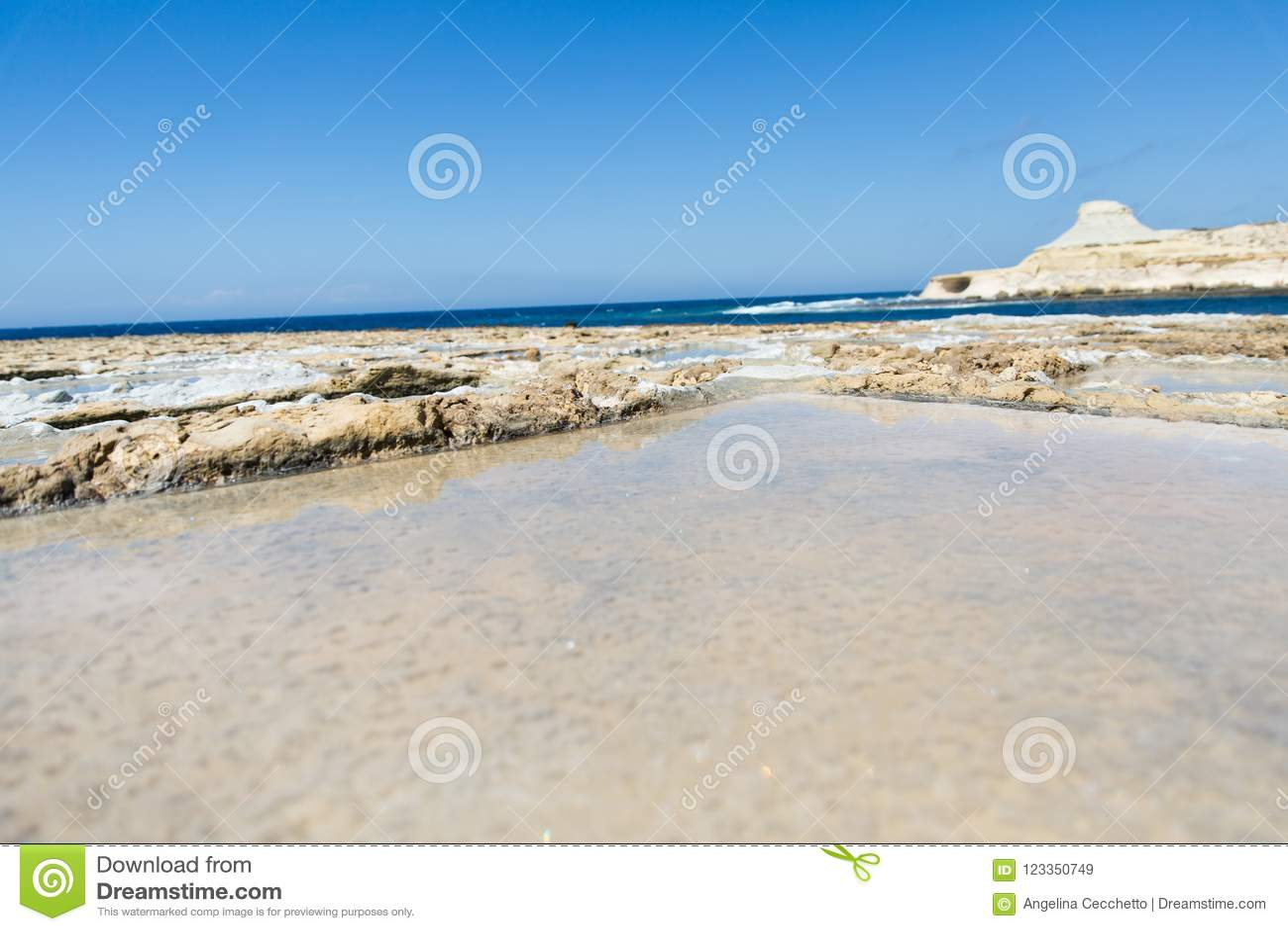 Limestone Quarry Industry At Gozo Island Stock Photo ...   Gozo Limestone