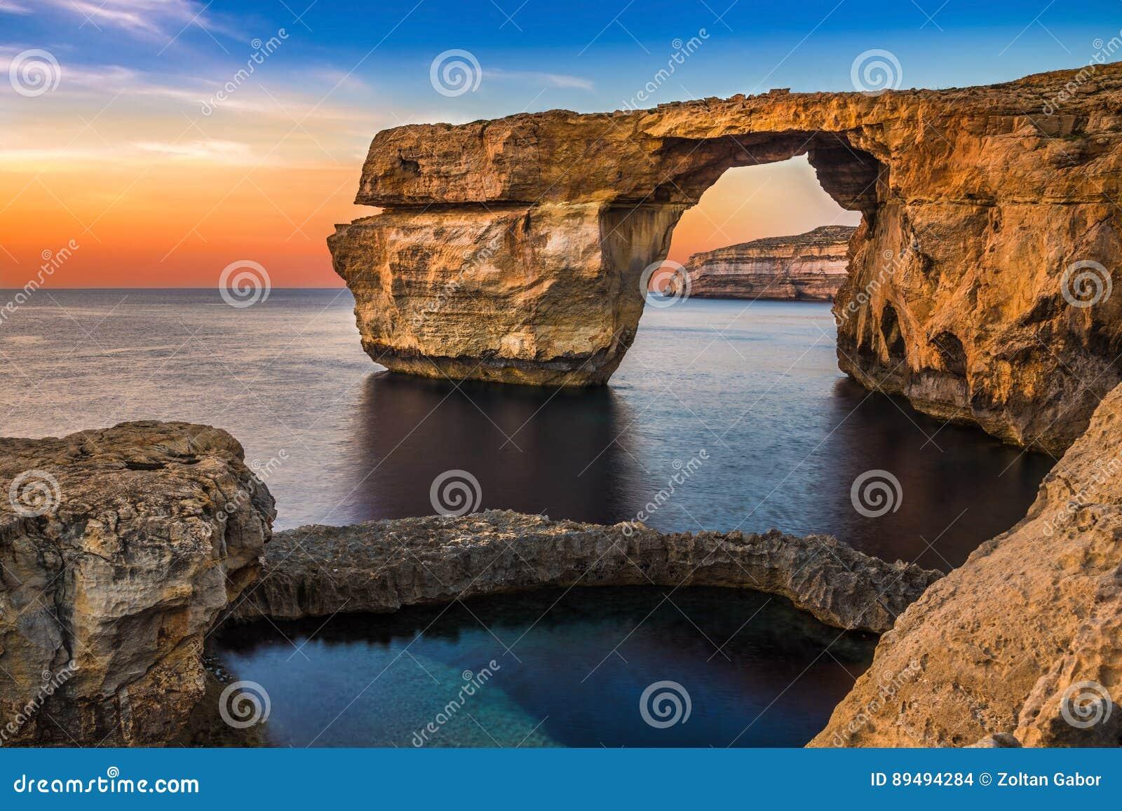 Gozo, Malta - schöne Azure Window, ein natürlicher Bogen