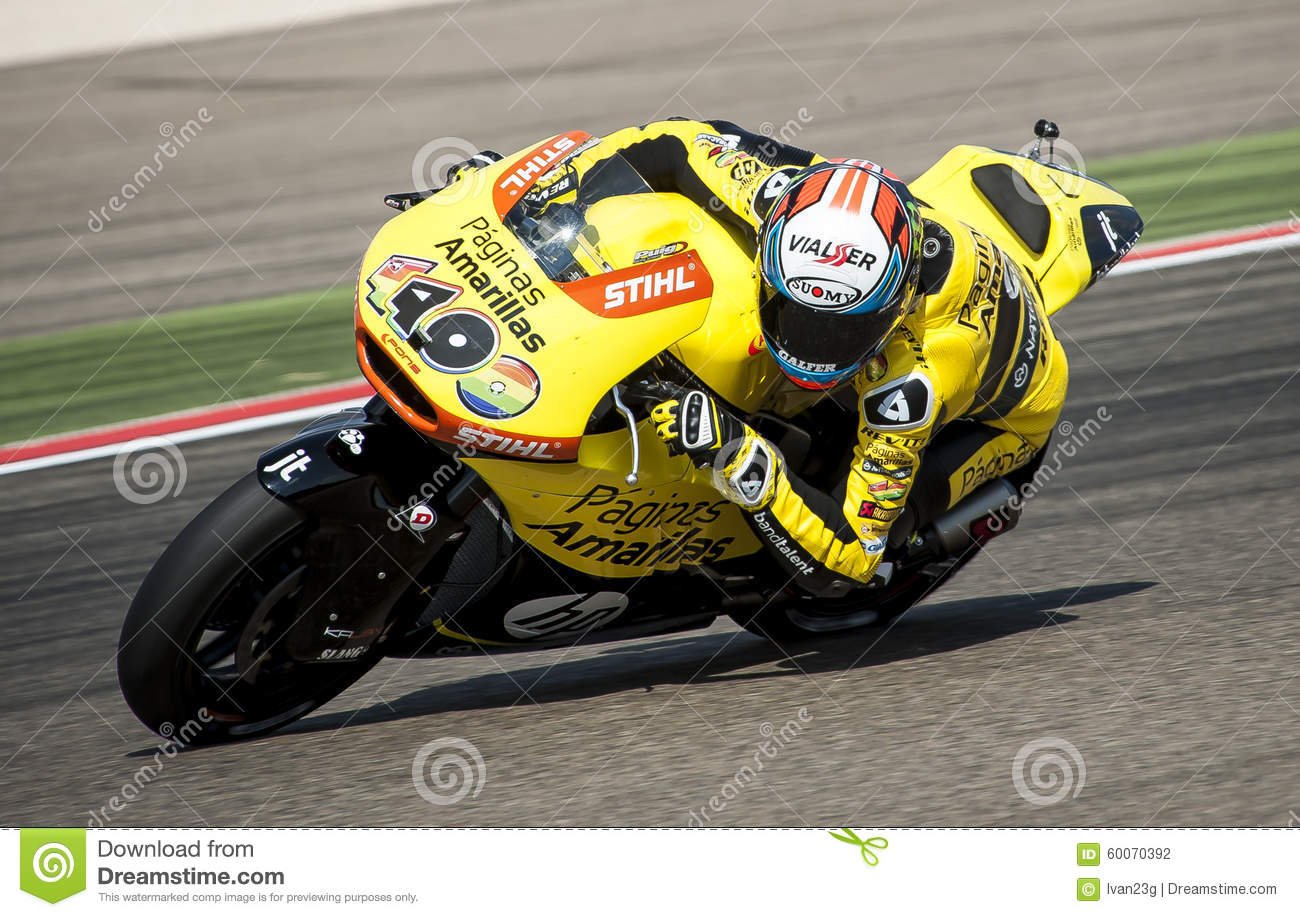 GP ARAGON MOTO GP. MOTO 2 RIDER ALEX RINS Editorial Photography