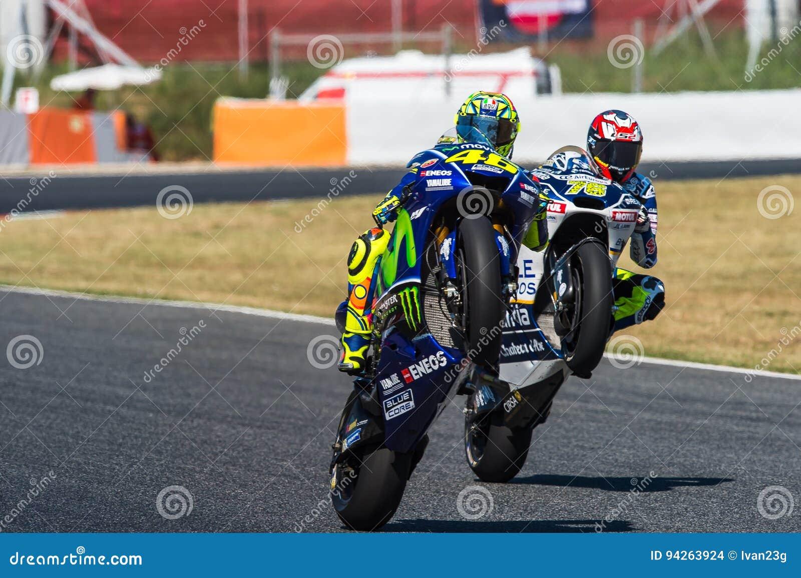 Gp Catalunya Motogp Valentino Rossi Komanda Movistar Yamaha