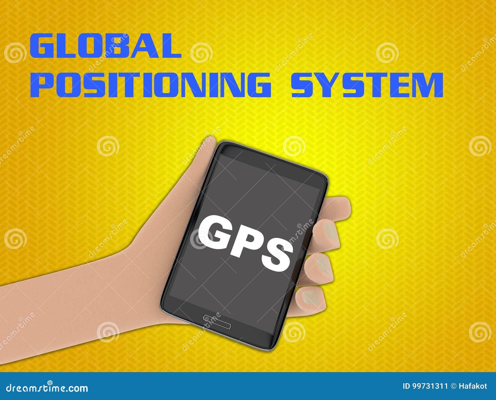 gps global positioning system concept stock illustration