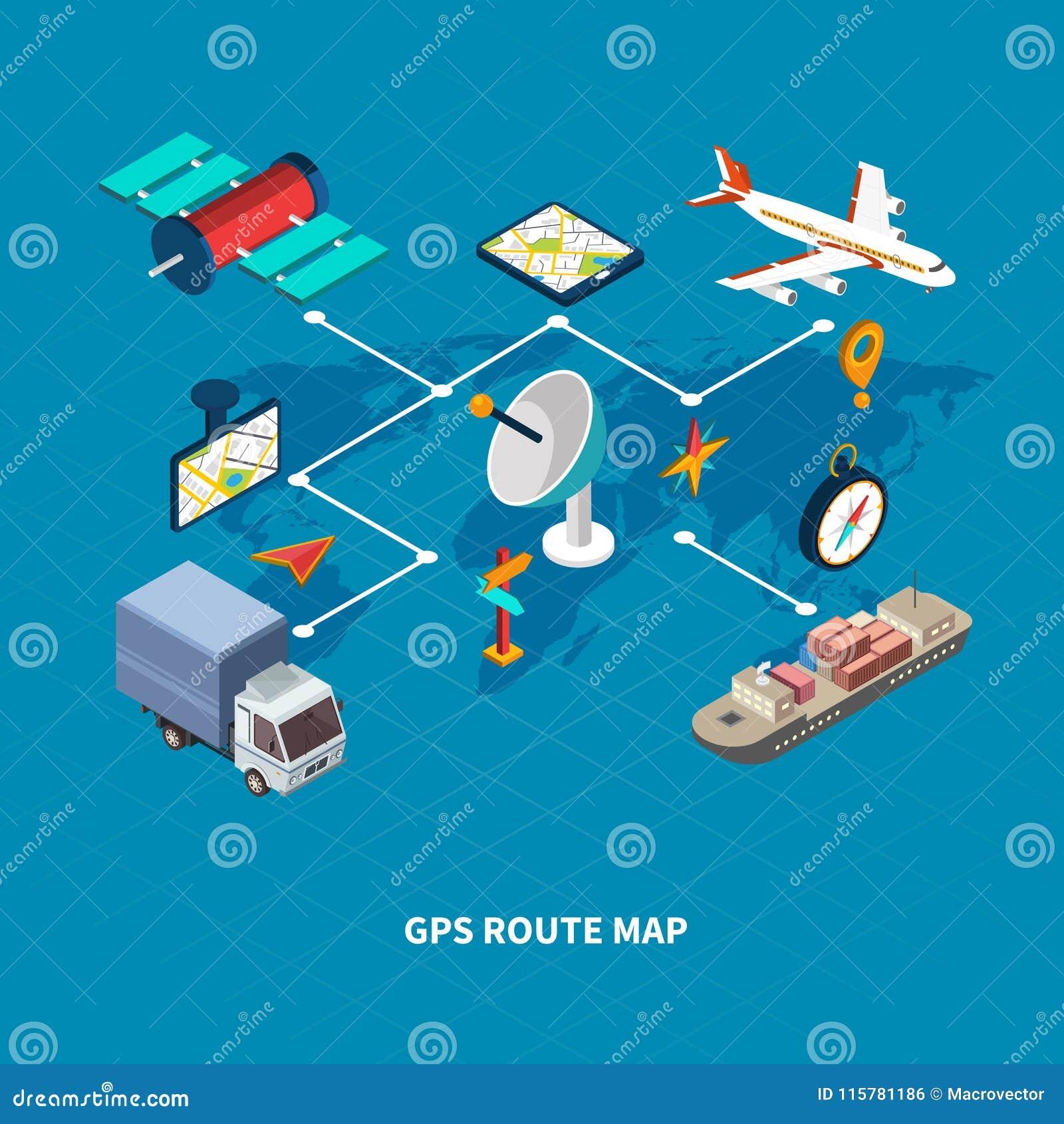 GPS-het Stroomschema van de Routekaart