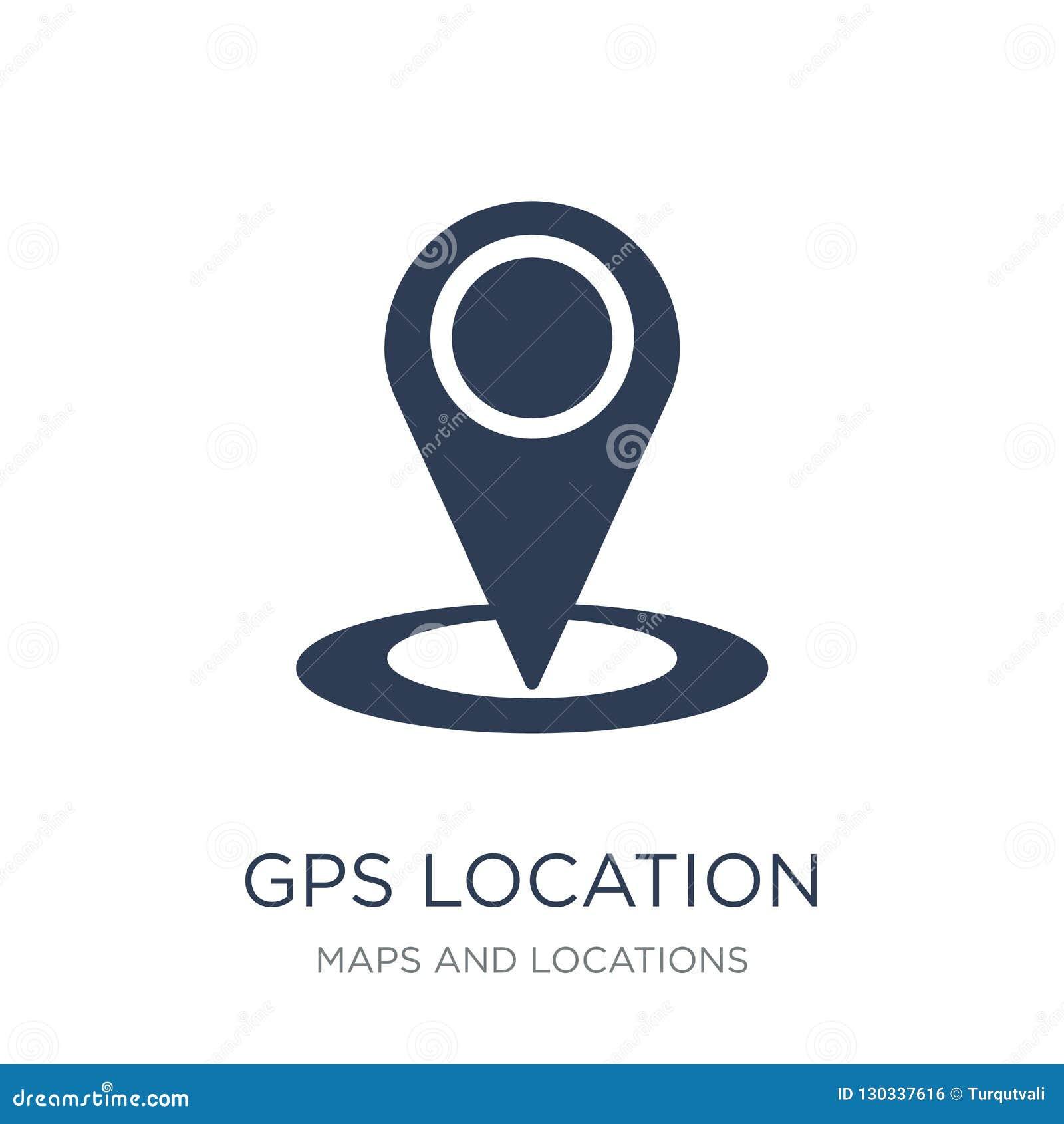 GPS Location Icon  Trendy Flat Vector GPS Location Icon On