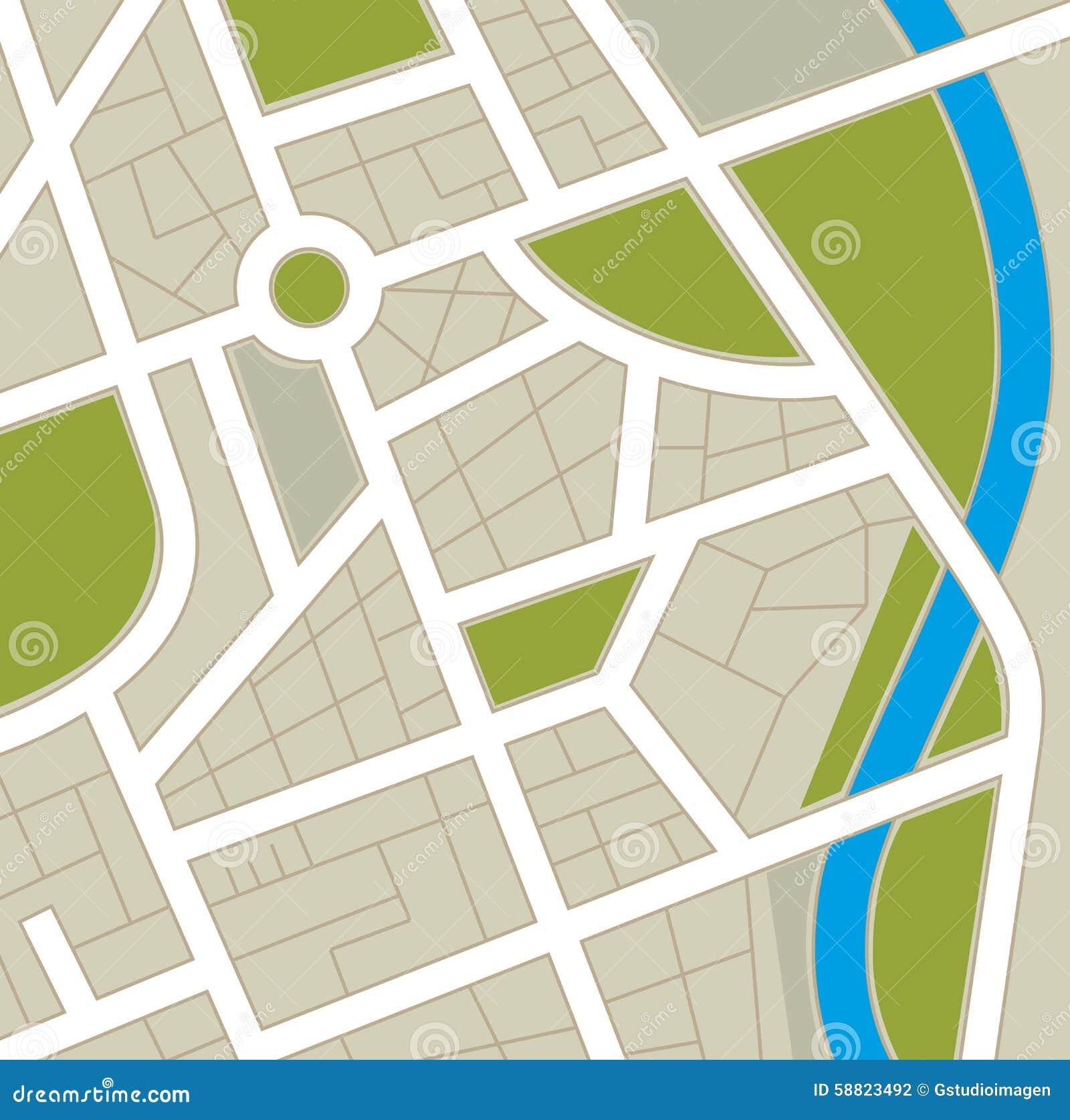GPS map design  stock vector  Illustration of illustration - 58823492